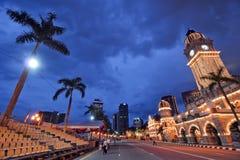 domstolsbyggnaddus Kuala Lumpur arkivbild