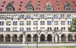 Domstolsbyggnaden i Nuremberg arkivfoto