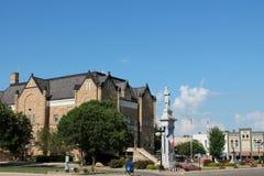 Domstolsbyggnadfyrkant-Harlan Iowa Royaltyfri Foto