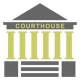 domstolsbyggnadillustration vektor illustrationer