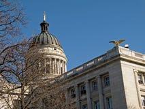domstolsbyggnadkupol royaltyfria bilder