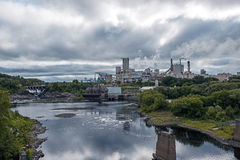 Domtar paper mill in town of Espanola, Ontario stock photo