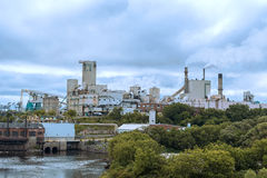 Domtar paper mill in town of Espanola, Ontario Royalty Free Stock Image