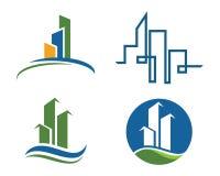 Domu i budynku logo Obraz Royalty Free