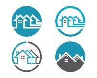 Domu i budynku logo Obrazy Royalty Free