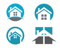 Domu i budynku logo Zdjęcie Royalty Free