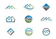 Domu i budynku logo ilustracji
