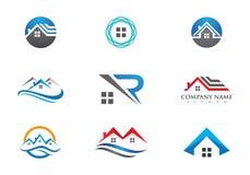 Domu i budynku logo royalty ilustracja