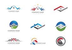 Domu i budynku logo ilustracja wektor