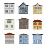 Domu i budynku set Zdjęcie Stock