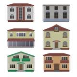 Domu i budynku set Obrazy Stock