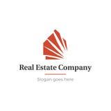 Domu i nieruchomości logo Zdjęcia Stock