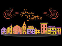 Domu kolor z rzędu Obraz Stock