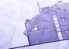 domu projektu planu Obraz Stock