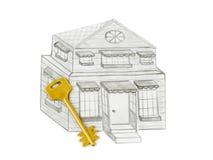 domu rysunkowy klucz Zdjęcia Stock