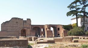 Domus Augustana. Ancient Roman Empire Ruins of the Domus Augustana, Palatine Hill, Rome Royalty Free Stock Images