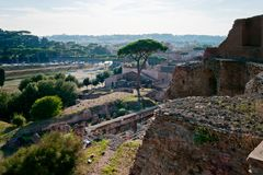 Domus Augustana and Circus Maximus Royalty Free Stock Photography