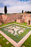 Domus Augustana gardens and ruins in palatine hill at Rome Royalty Free Stock Photos