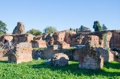 Domus Flavia på den Palatine kullen Royaltyfri Bild