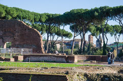 Domus Flavia at the Palatine Hill Stock Photo
