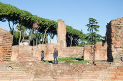 Domus Flavia at the Palatine Hill Stock Image