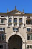 Domus Nova or Palazzo dei Giudici - Verona Italy Stock Photo