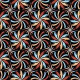 Domus Romana Palazzo Valentini ray circle seamless pattern Stock Photo