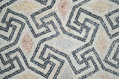 Domus of the Stone Carpets of Ravenna, Italy. UNESCO World Heritage Site. Particular of the mosaic from the Domus of Stone Carpets. The House of Stone Carpets is Royalty Free Stock Photography