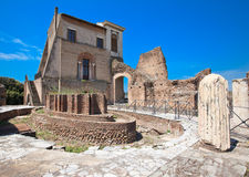 The Domus Transitoria. At the Roman Forum and Palatine Hill archaeological museum. Rome. Italy Royalty Free Stock Photo