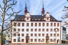 Domus Universitatis, Johannes Gutenberg-Universität Mainz, Rhineland-Palatinate Stock Images