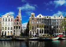 Domy Amstardam, holandie obrazy stock