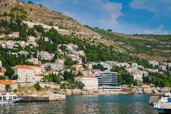Domy blisko Dubrovnik nadmorski obrazy royalty free