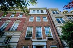 Domy blisko Dupont okręgu w Waszyngton, DC zdjęcie royalty free