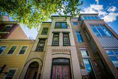Domy blisko Dupont okręgu w Waszyngton, DC Zdjęcia Stock