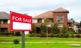 Domy dla sprzedaży, realestate pojęcie Zdjęcia Royalty Free