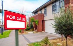 Domy dla sprzedaży, realestate pojęcie Zdjęcie Stock