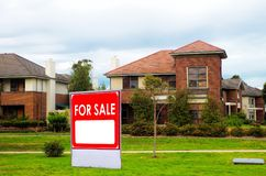 Domy dla sprzedaży, realestate pojęcie Obrazy Stock