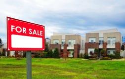 Domy dla sprzedaży, realestate pojęcie Fotografia Stock