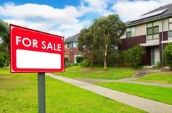 Domy dla sprzedaży, realestate pojęcie Obraz Stock