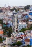 domy i ulicy w Chefchaouen Zdjęcia Royalty Free