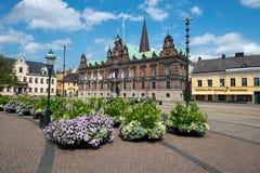 domy Malmo Szwecji starego miasta szwedzkiego tradycyjnego Obrazy Royalty Free