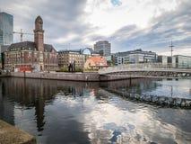domy Malmo Szwecji starego miasta szwedzkiego tradycyjnego Fotografia Stock