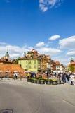 Domy miejscy przy Roszują kwadrat, Warszawa Zdjęcie Royalty Free