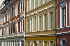Domy miejscy w Oslo Obrazy Royalty Free