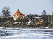 Domy na brzeg rzeki Obrazy Stock