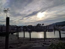 Domy na nabrzeżu w Vancouver Zdjęcie Stock