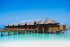 Domy na oceanie - Maldives Zdjęcia Royalty Free