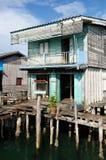 Domy na stilts w Kambodża na wyspy Koh Sdach Obraz Stock