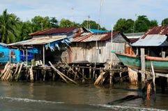 Domy na stilts w Kambodża na wyspy Koh Sdach Zdjęcia Royalty Free