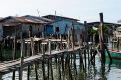 Domy na stilts w Kambodża na wyspy Koh Sdach Zdjęcia Stock